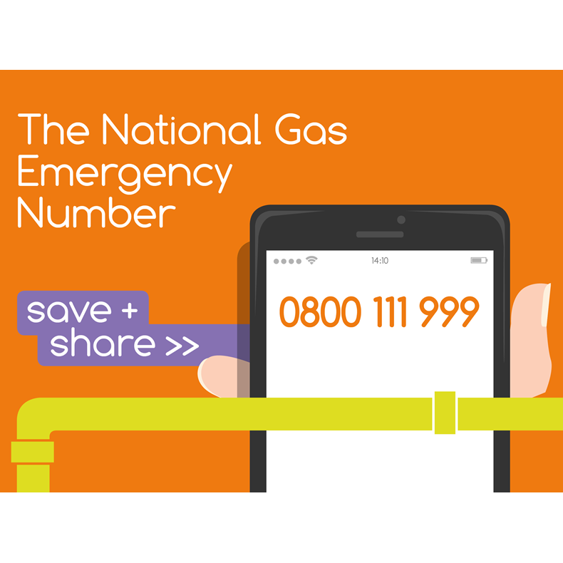 Smell Gas? Gas Emergency Number
